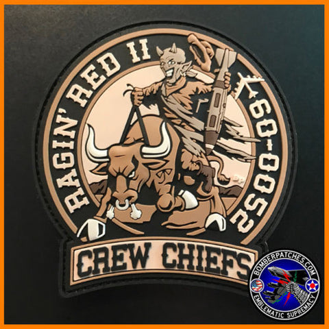 CREW CHIEF PATCH 60-0052 RAGIN RED II, Desert Subdued