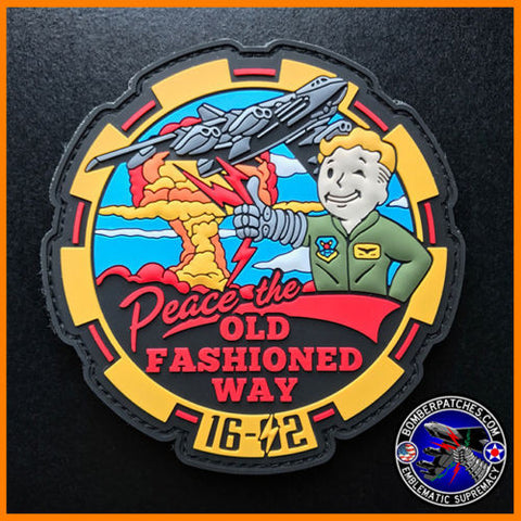 11TH 93D BOMB SQUADRON B-52 FTU CLASS 16-02 FALLOUT INSPIRED PVC PATCH