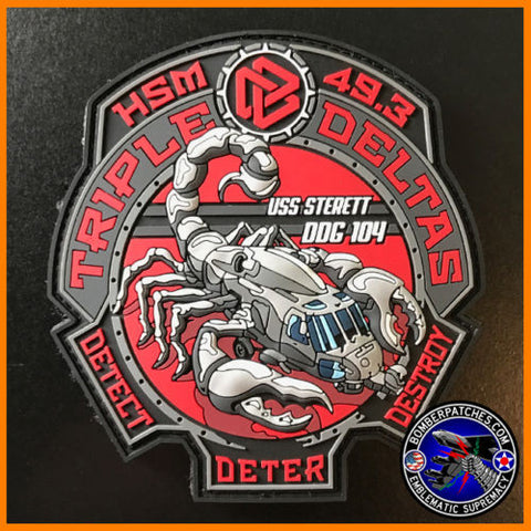 HSM-49 Scorpions Triple D PVC Patch