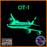 E-4B NIGHTWATCH NAOC Glow in the Dark PVC Patch, Team 1, Offutt AFB 747-200 USAF