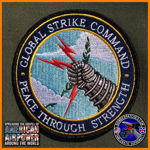 GLOBAL STRIKE COMMAND PEACE THROUGH STRENGTH PATCH SAC
