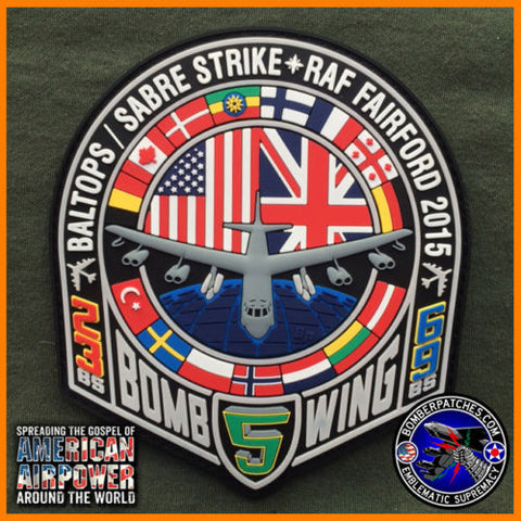 B-52 2015 BALTOPS / SABRE STRIKE PVC PATCH, RAF FAIRFORD