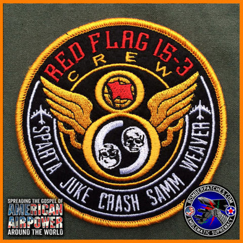69th Bomb Squadron Crew 8 Red Flag 15-3 Patch