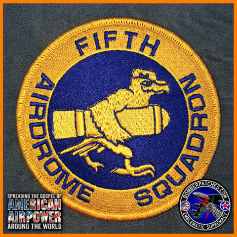 FIFTH AIRDROME SQUADRON HERITAGE PATCH 5TH BOMB WING