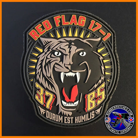 37th Bomb Squadron Red Flag 17-1 PVC Patch