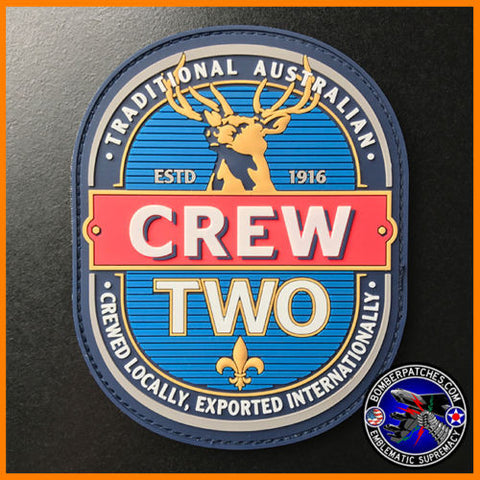 E-7A WEDGETAIL CREW TWO PVC MORALE PATCH, ROYAL AUSTRALIAN AIR FORCE, EXCLUSIVE