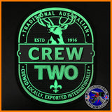 E-7A WEDGETAIL CREW TWO PVC PATCH, ROYAL AUSTRALIAN AIR FORCE, Glow in the Dark