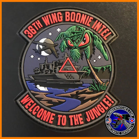 "36th Wing Boonie Intel PVC Patch ""Welcome to the Jungle"""