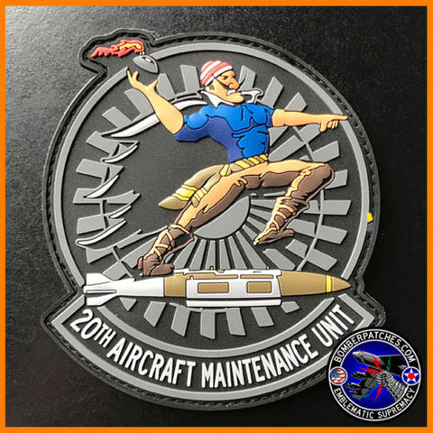 20th Aircraft Maintenance Unit PVC Morale Patch