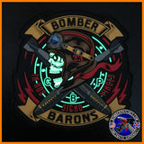 23d EBS FRIDAY BOMBER BARONS PVC MORALE Patch, Glow in the Dark