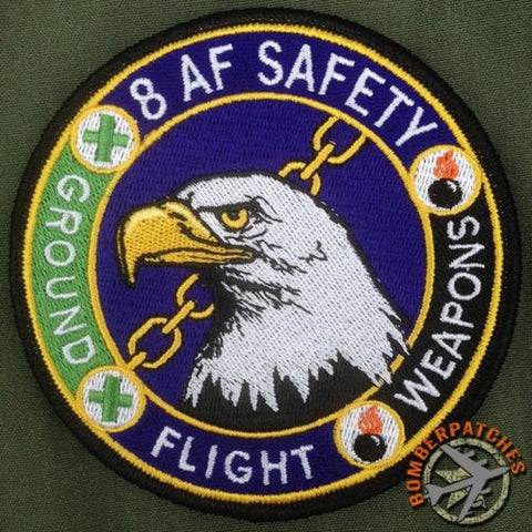 EIGHTH AIR FORCE SAFETY OFFICIAL UNIFORM PATCH