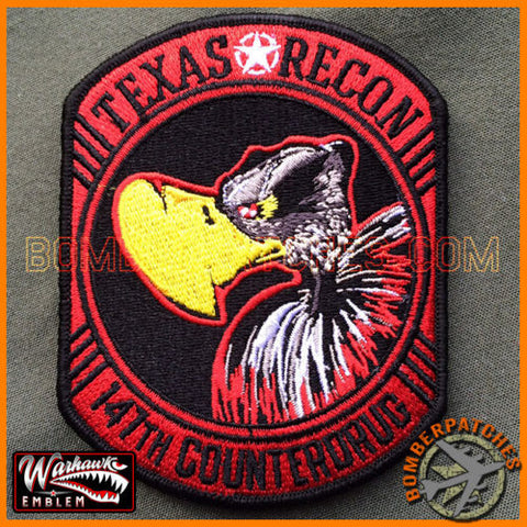 "147th ""TEXAS RECON"" SQ PATCH, COUNTERDRUG RC-26 TEXAS ANG"