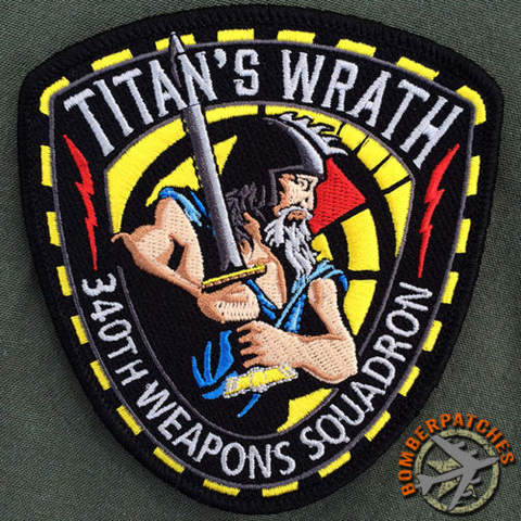 "340th Weapons Squadron, B-52 Weapons School ""TITAN'S WRATH"","