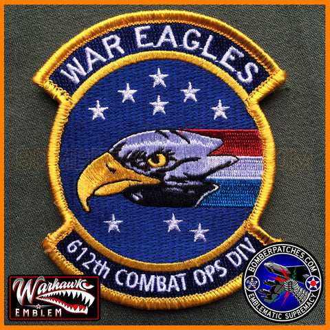 "612TH AOC ""WAR EAGLES"" COMBAT OPERATIONS DIVISION PATCH"