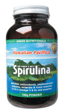 Green Nutritionals Hawaiian Spirulina 100g POWDER