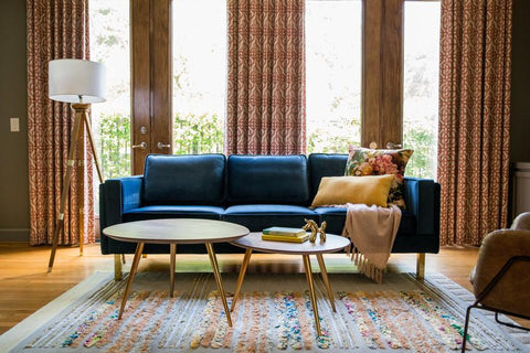 Edloe Finch Lexington Sofa Blue