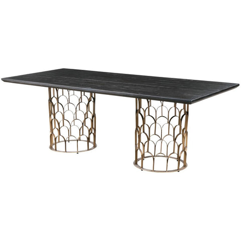 TOV FURNITURE MODERN GATSBY WOOD DINING TABLE