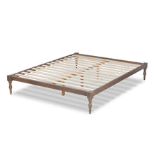 Baxton Studio Iseline Modern and Contemporary Antique Oak Finished Wood Full Size Platform Bed Frame