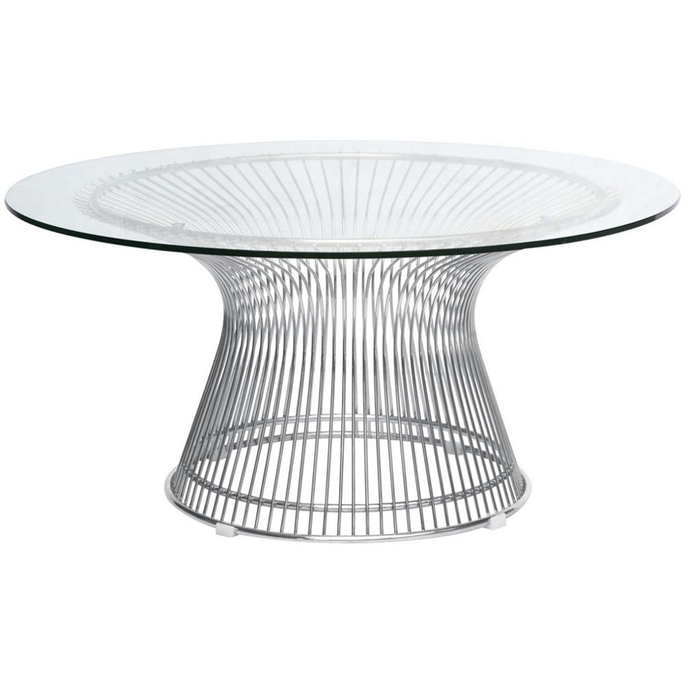 Finemod Imports Modern Wire Coffee Table FMI10085-SILVER-Minimal & Modern