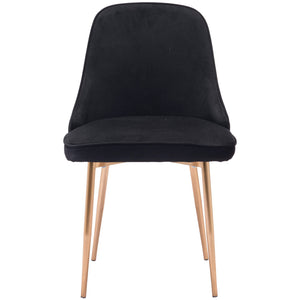 Zuo Modern Merritt Dining Chair Black Velvet - 100856-Dining Chairs-Zuo Modern-Minimal And Modern Canada