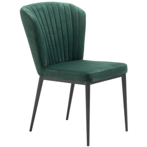 Zuo Modern Tolivere Dining Chair Green Velvet | Set Of 2 - 101100 Zuo Modern-Dining Chairs-Minimal And Modern Canada - 1