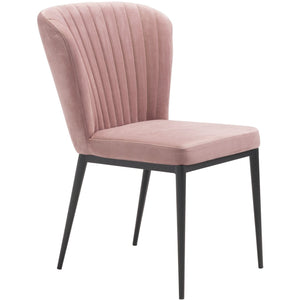 Zuo Modern Tolivere Dining Chair Pink Velvet | Set Of 2 - 101101 Zuo Modern-Dining Chairs-Minimal And Modern Canada - 1