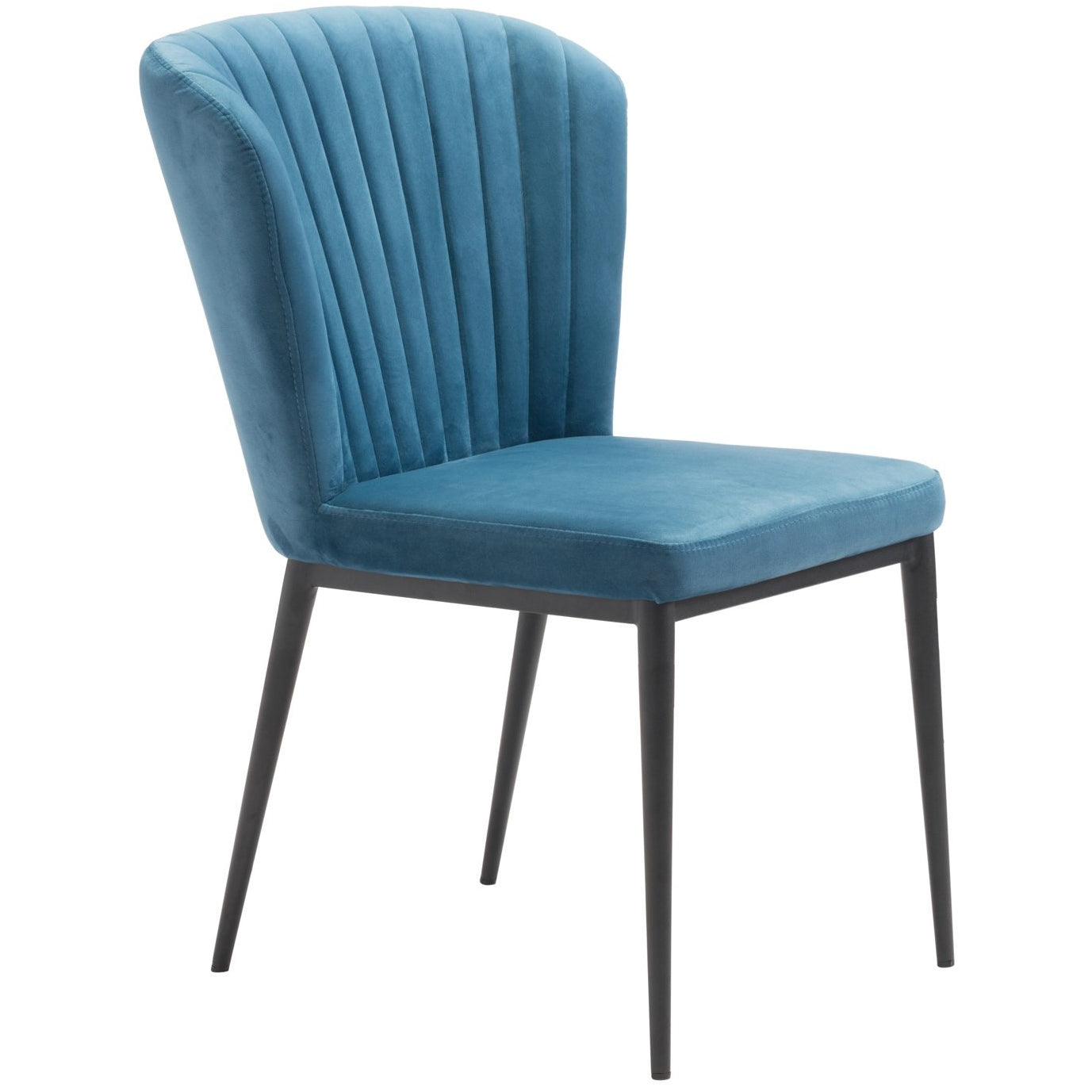 Zuo Modern Tolivere Dining Chair Blue Velvet | Set Of 2 - 101102 Zuo Modern-Dining Chairs-Minimal And Modern Canada - 1