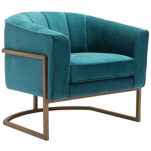Zuo Modern Lyric Occasional Chair Green Velvet  - 101152 Zuo Modern-Occasional Chairs-Minimal And Modern Canada - 1