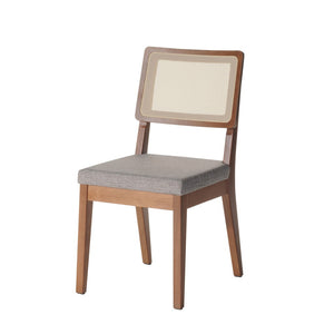 Manhattan Comfort Pell Dining Chair in Grey and Maple Cream Manhattan Comfort-Dining Chair- - 1