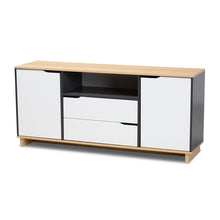 Baxton Studio Reed Mid-Century Modern Multicolor 2-Door Wood Dining Room Sideboard Baxton Studio- Sideboards and Servers-Minimal And Modern - 1