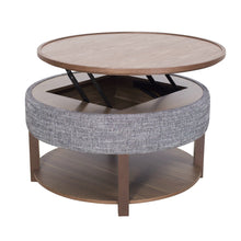 Neville Lift-Top Round Storage Coffee Table by New Pacific Direct - 1030011