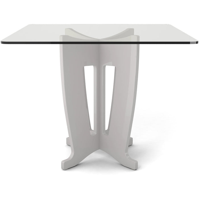 Manhattan Comfort Jane 39.32 in Sleek Tempered Glass Table Top in Off-White-Minimal & Modern