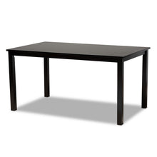 Baxton Studio Eveline Modern and Contemporary Espresso Brown Finished Rectangular Wood Dining Table Baxton Studio-dining table-Minimal And Modern - 1