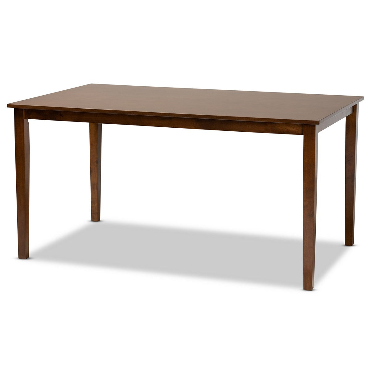 Baxton Studio Eveline Modern and Contemporary Walnut Brown Finished Rectangular Wood Dining Table Baxton Studio-dining table-Minimal And Modern - 1