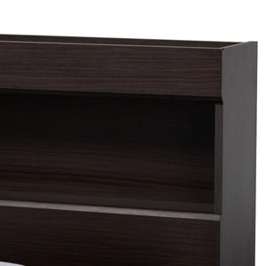 Baxton Studio Blaine Modern and Contemporary Dark Brown Finished Wood Queen Size 6-Drawer Platform Storage Bed