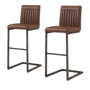 Ronan PU Leather Bar Stool - Set of 2 by New Pacific Direct - 1060009