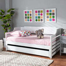 Baxton Studio Jameson Modern and Transitional White Finished Expandable Twin Size to King Size Daybed with Storage Drawer
