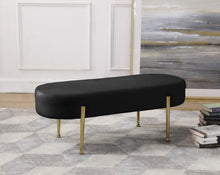 Meridian Furniture Gia Black Velvet Bench
