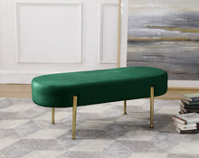 Meridian Furniture Gia Green Velvet Bench
