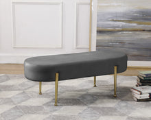 Meridian Furniture Gia Grey Velvet Bench