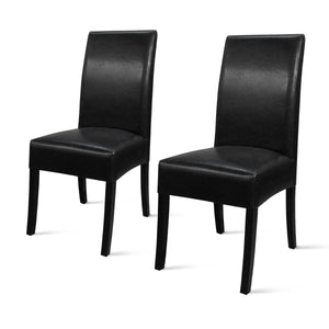 Valencia Bonded Leather Chair - Set of 2 by New Pacific Direct - 108239B