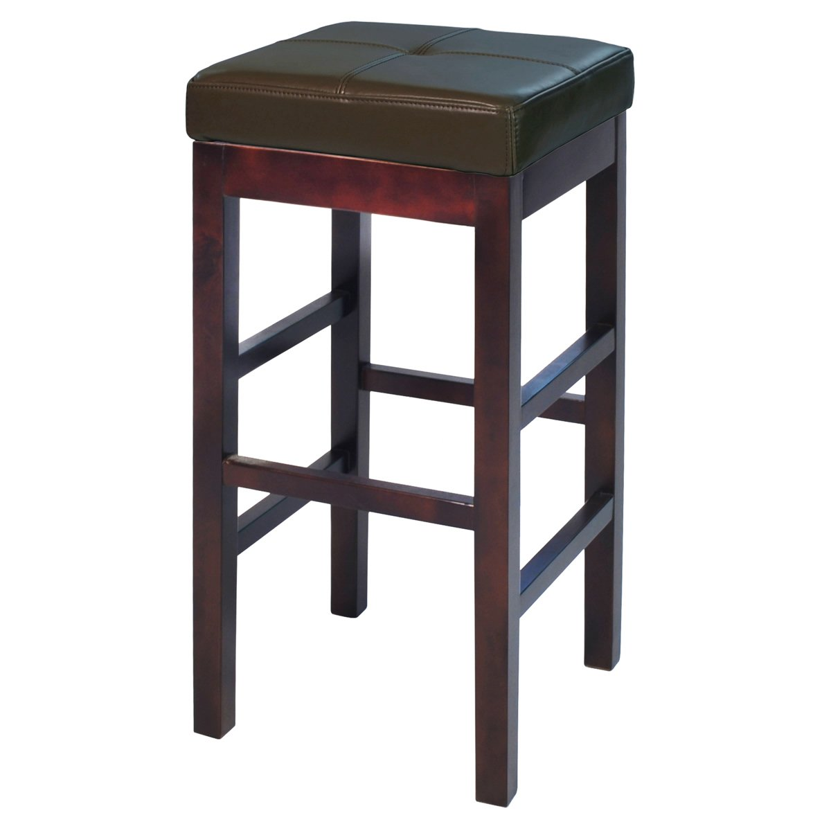 Valencia Backless Bicast Leather Bar Stool by New Pacific Direct - 108631