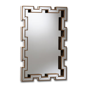 Baxton Studio Tanis Modern and Contemporary Glam Bronze Finished Rectangular Accent Wall Mirror Baxton Studio-mirrors-Minimal And Modern - 1