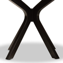 Baxton Studio Kenji Modern and Contemporary Dark Brown Finished 48-Inch-Wide Round Wood Dining Table
