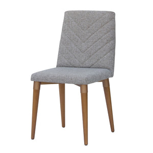 Manhattan Comfort Utopia Chevron Dining Chair in Grey Manhattan Comfort-Dining Chair- - 1