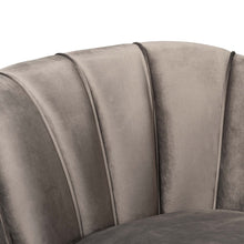 Baxton Studio Kailyn Glam and Luxe Grey Velvet Fabric Upholstered and Gold Finished Sofa