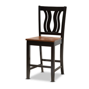 Baxton Studio Fenton Modern and Contemporary Transitional Two-Tone Dark Brown and Walnut Brown Finished Wood 5-Piece Pub Set