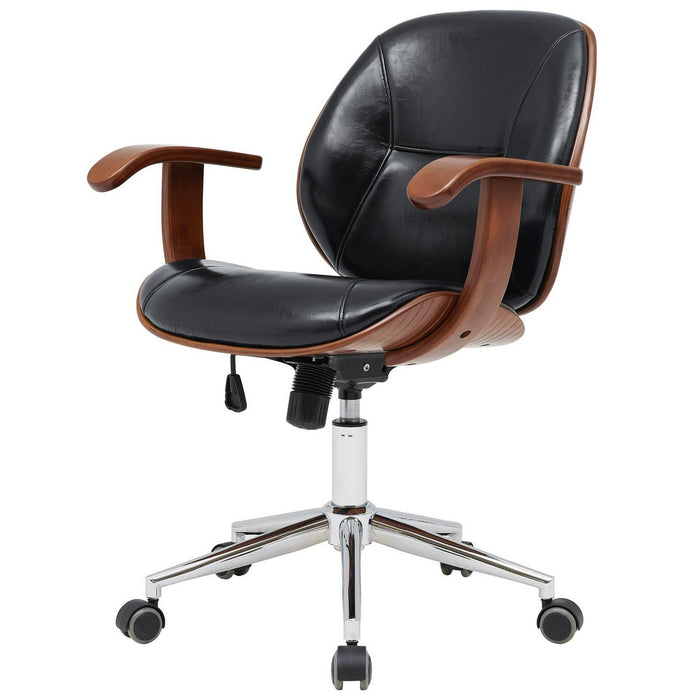 Samuel PU Bamboo Office Chair w/ Armrest by New Pacific Direct - 1160030