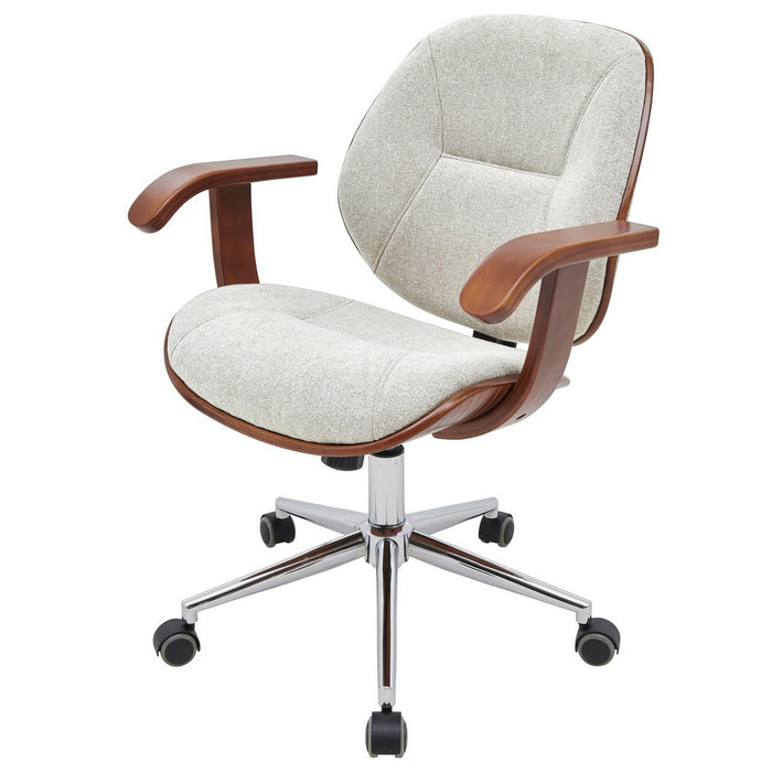 Samuel Fabric Bamboo Office Chair w/ Armrest by New Pacific Direct - 1160031