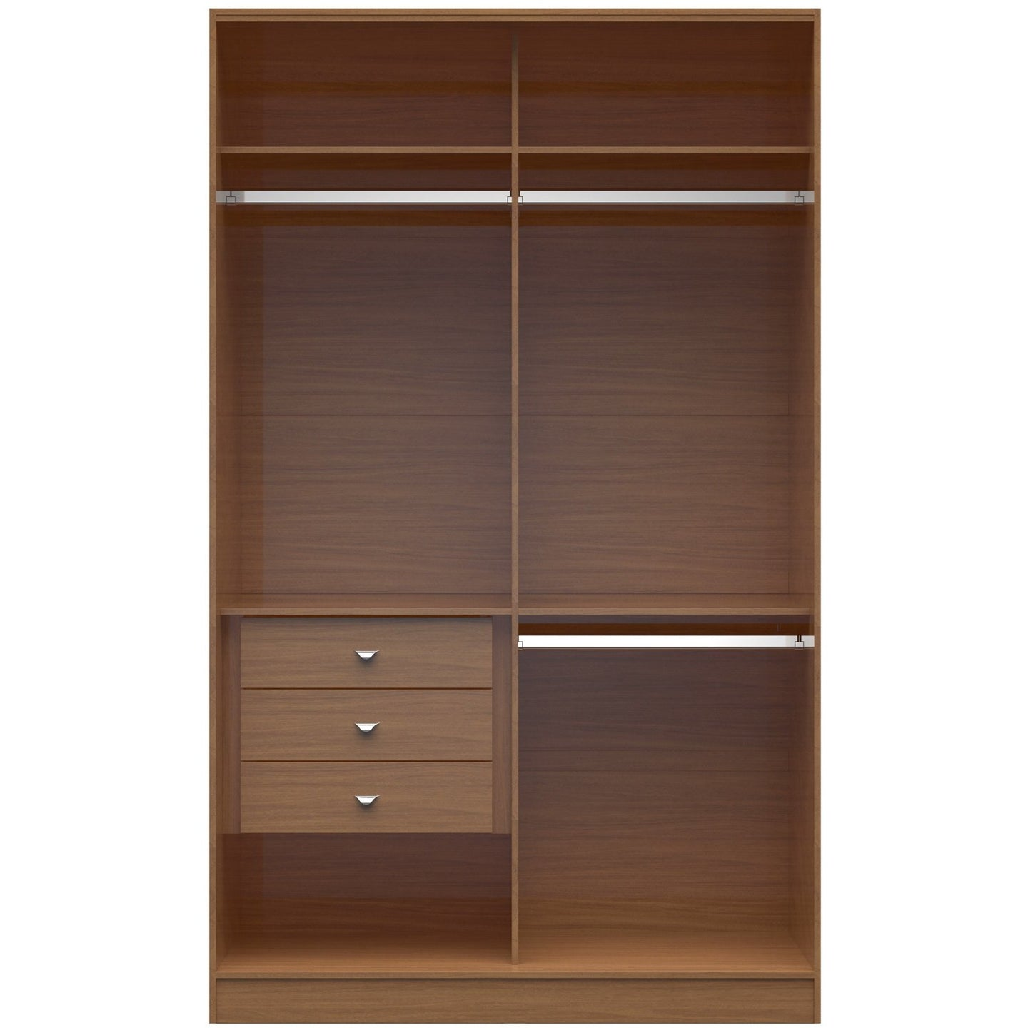 Manhattan Comfort Chelsea 1.0 - 54.33 inch Wide Double Basic Wardrobe with 3 Drawers in Maple Cream-Minimal & Modern